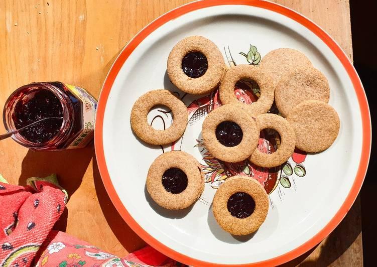 Ricetta Biscotti occhi di bue integrali e vegani