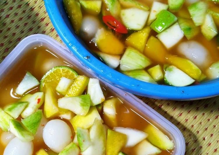 Asinan Rambutan vs Mangga 😁