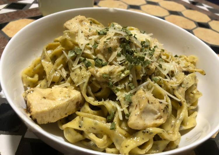 Fettuccine Alberto (because they are kind of like Alfredo, but different)