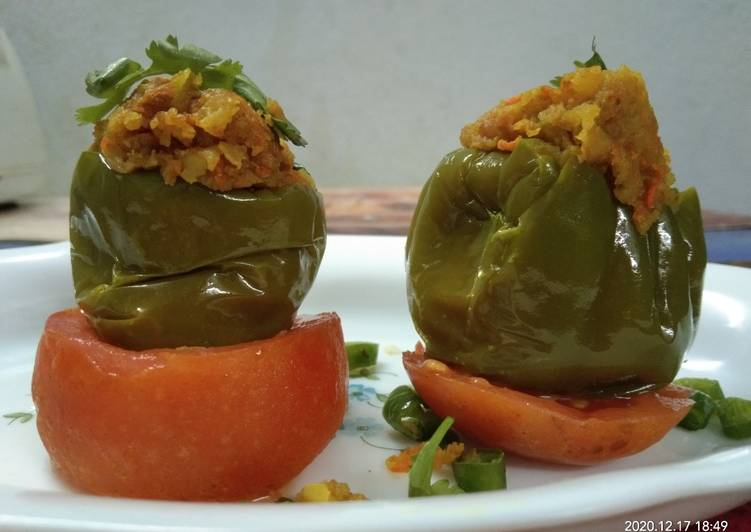 Easy to Make Ultimate Microwave Stuffed Capsicum