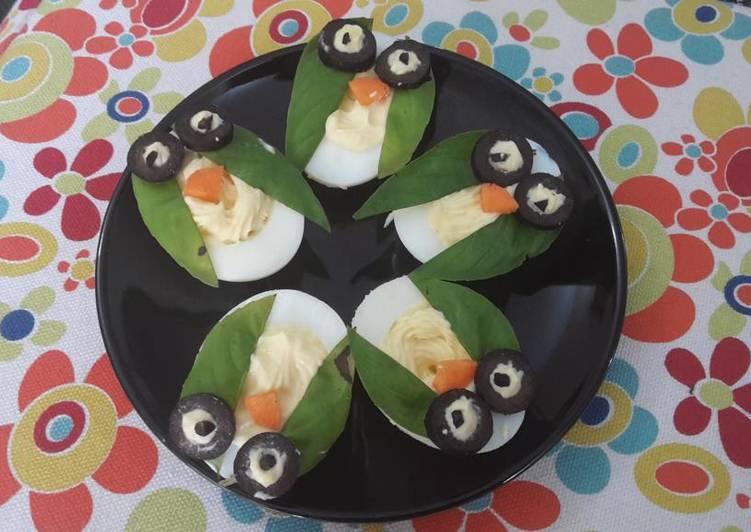 Halloween Owls (deviled eggs)