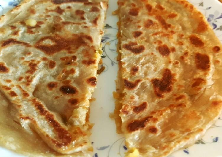 Potato flat bread (Aloo Paratha)😊