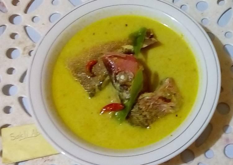 Gulai ikan kakap segar (praktis)