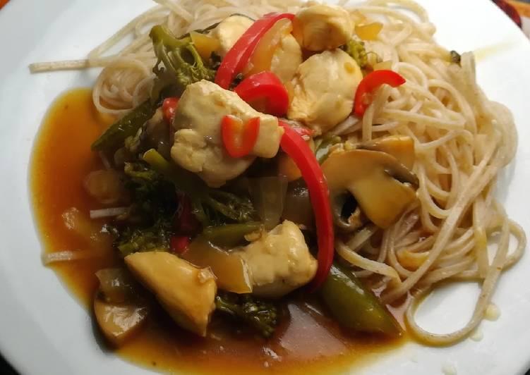 Recipe of Top-Rated Chinese Chicken & Mushroom