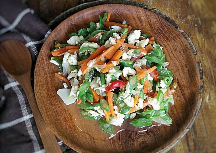 Sayur buncis, wortel orak arik