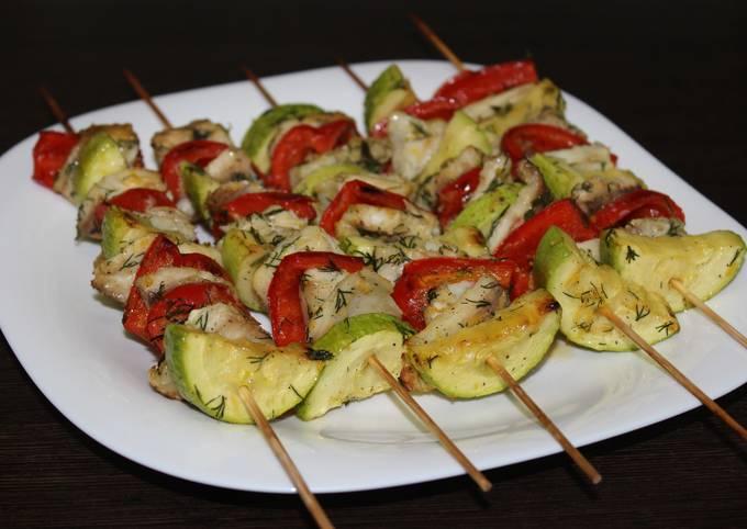 Рыбные шашлычки с овощами. Шашлык из рыбы — супер вкусно