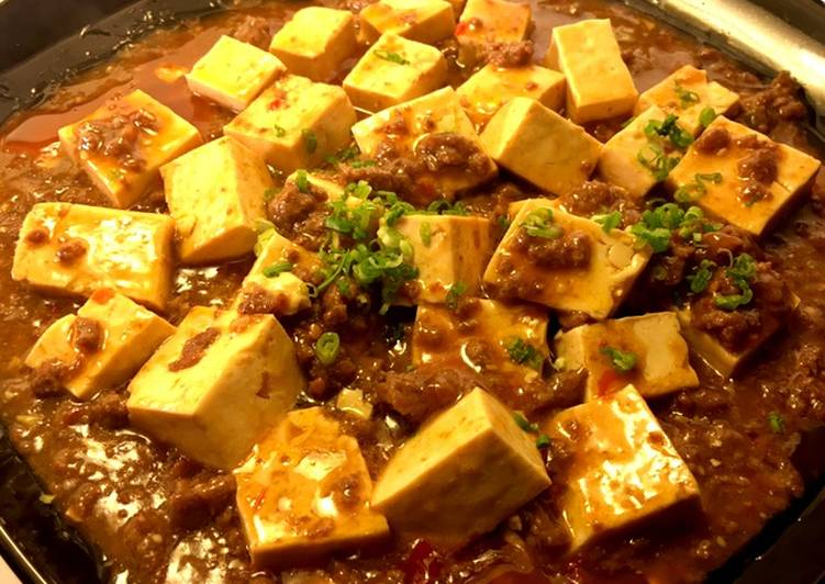 Mapo Tofu  Braised silken tofu and ground beef with spicy sauce, Helping Your Heart with Food
