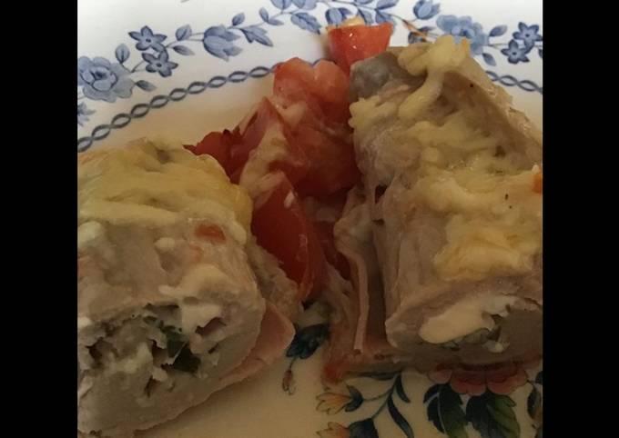 Roulades de veau au jambon tomates et mozzarella