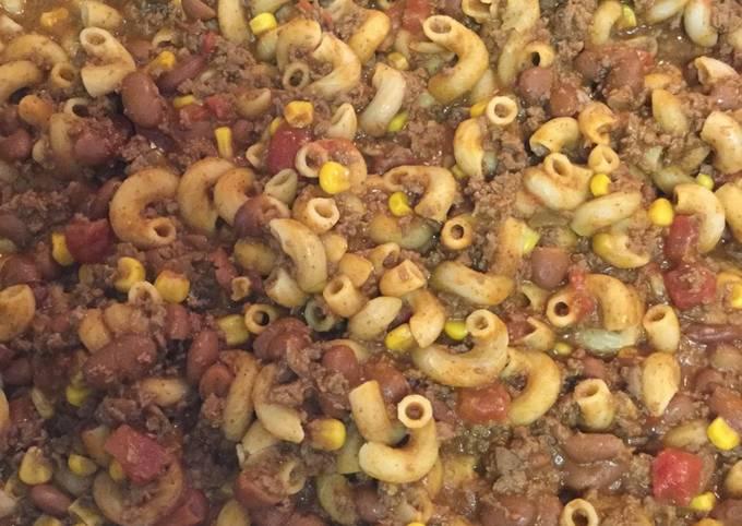 Venison Chili Pasta