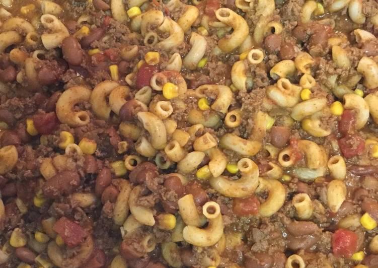 Simple Way to Prepare Homemade Venison Chili Pasta