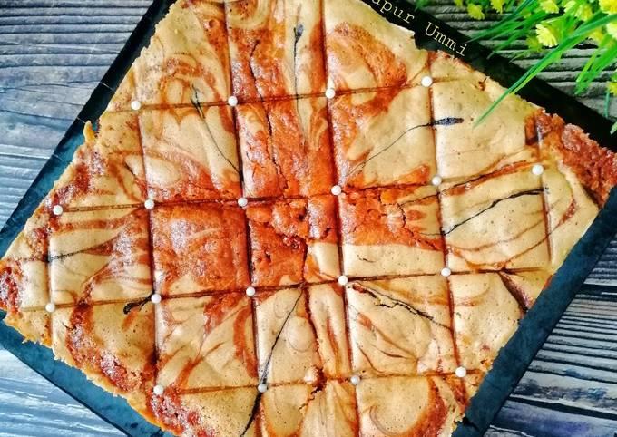 Kek Marble Oren Coklat