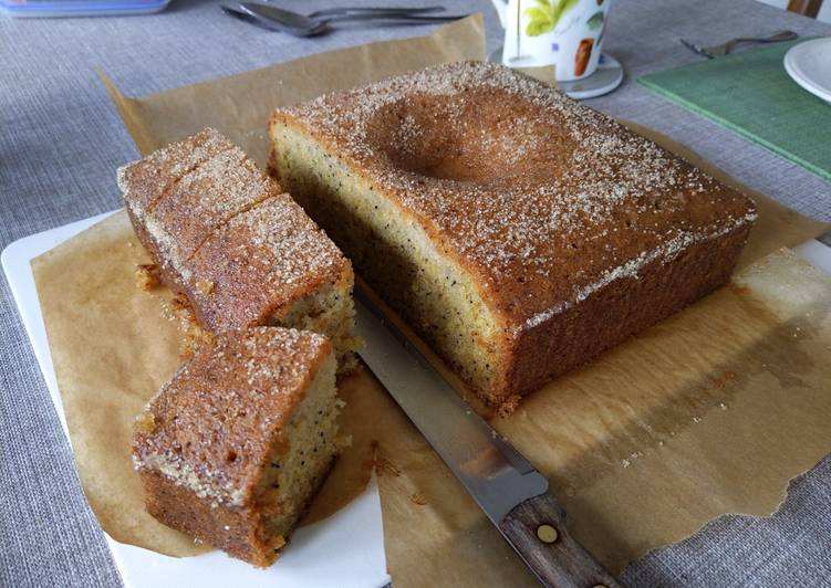 Steps to Prepare Quick Lemon and Poppy Drizzle Cake