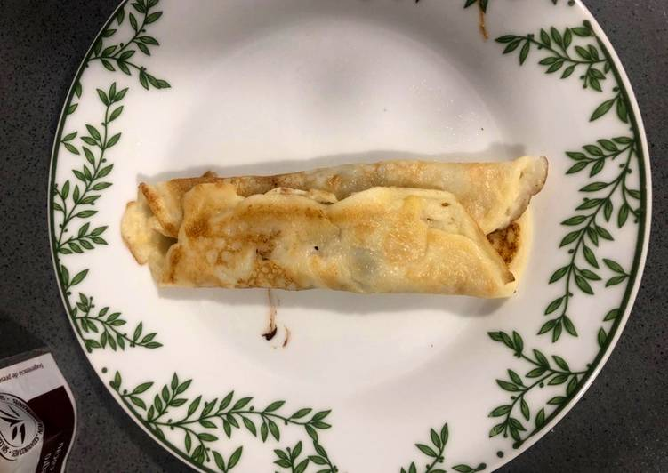 Crepes caseros con chocolate