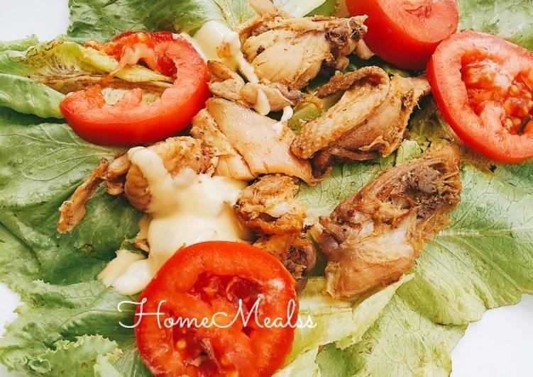 Recipe of Super Quick Homemade Chicken lettuce wraps