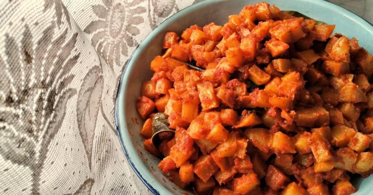 Sambal Goreng Kentang Potato In Red Chilli Sauce Recipe By Iskan Detia Karina Cookpad