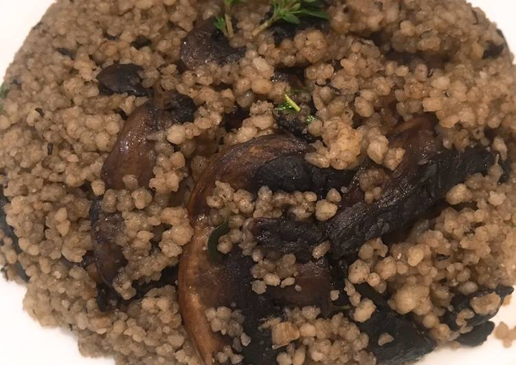 Recipe of Super Quick Homemade Mushroom and Garlic Couscous