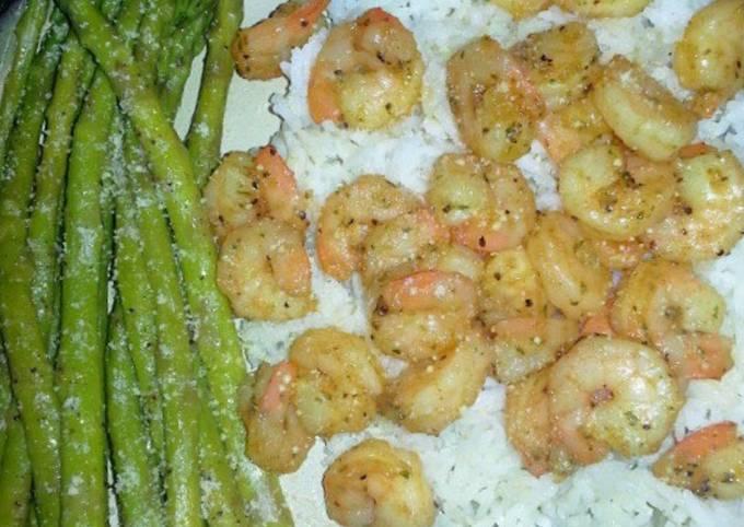 Sautéed Shrimp & Asparagus