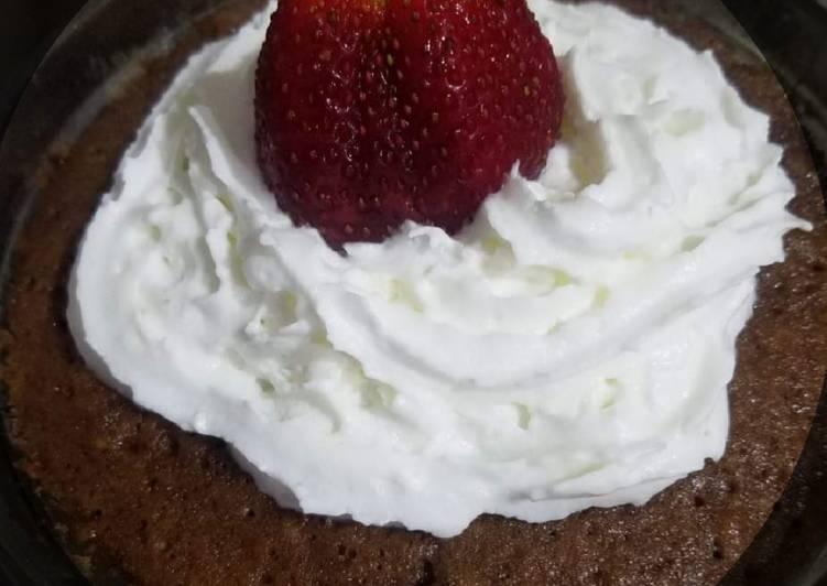 Brownie in microwave