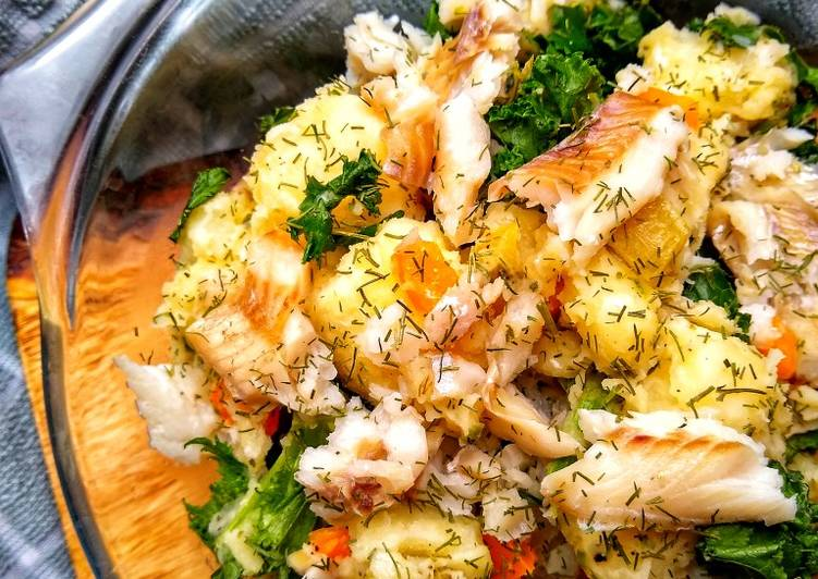 Easiest Way to Make Favorite Summery Potato Salad With A Fish Twist