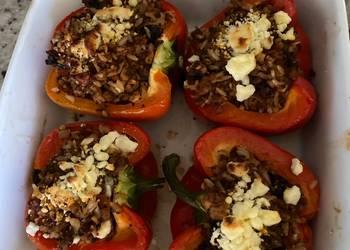 Easiest Way to Make Appetizing Vegetarian Stuffed Peppers