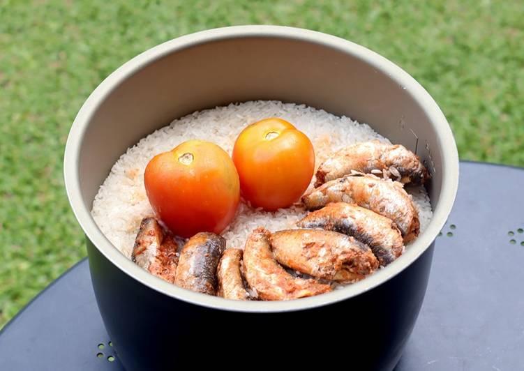 Resep Nasi Sarden ABC: Hanya Pakai Rice Cooker!