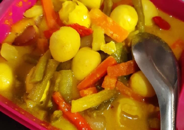 Telur Puyuh Masak Acar Kuning