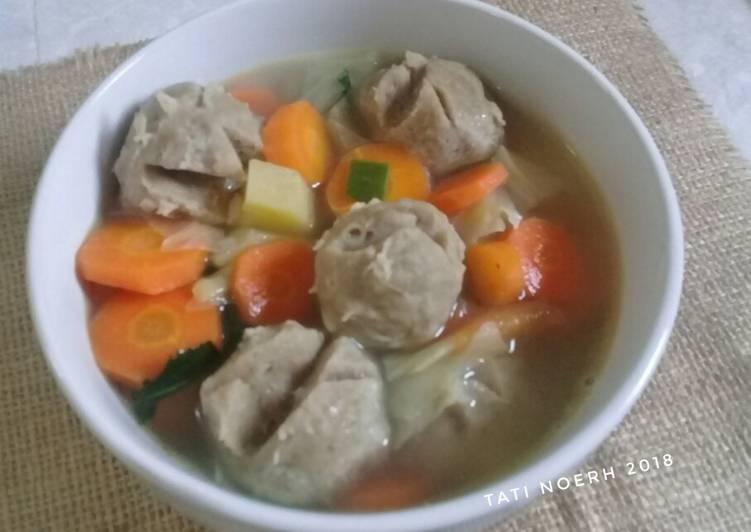 Resep Sop Sayur Bakso Sapi #bandung_recookGiacintaPermana Yang Mudah Bikin Ngiler