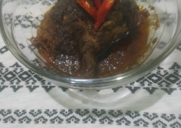 67. Rendang Ayam indofood tanpa santan