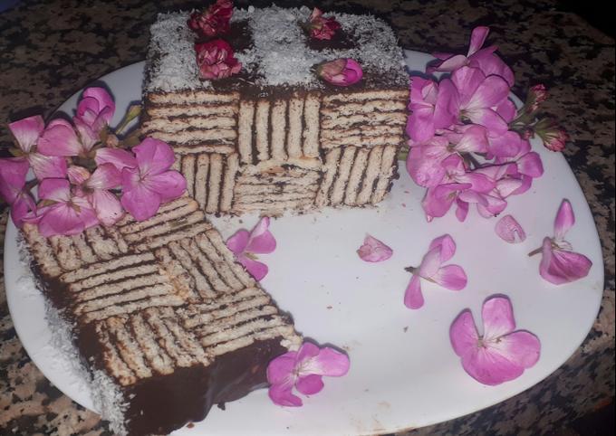 Dessert aux biscuit creme au chocolat
