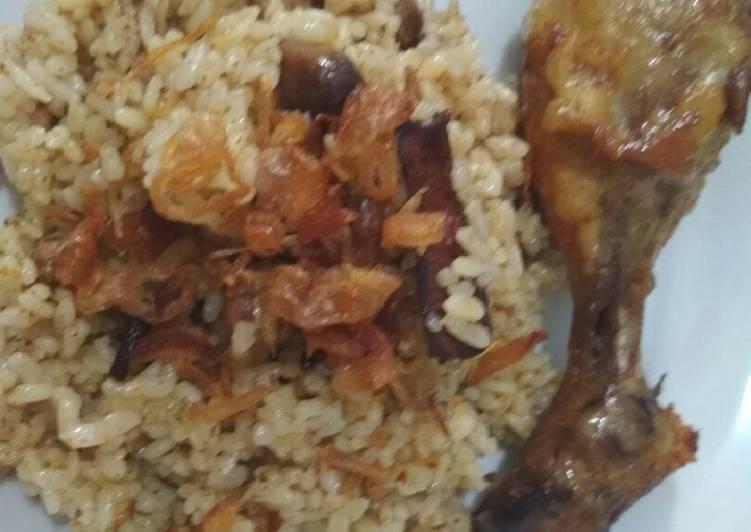 Nasi kebuli ayam rempah
