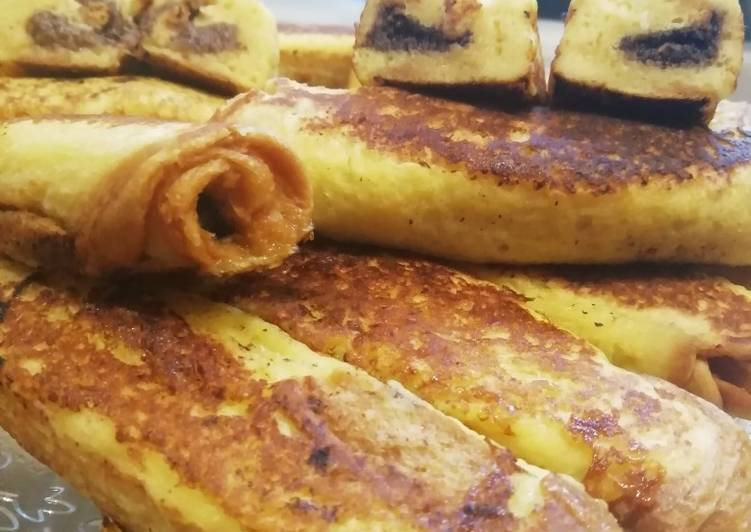 La Délicieuse Recette du Roulés de brioche perdu, fourés à la pâte à tartiner vegan