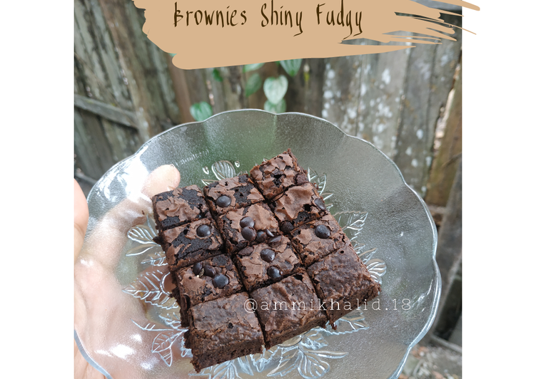 Brownies Shiny Fudgy