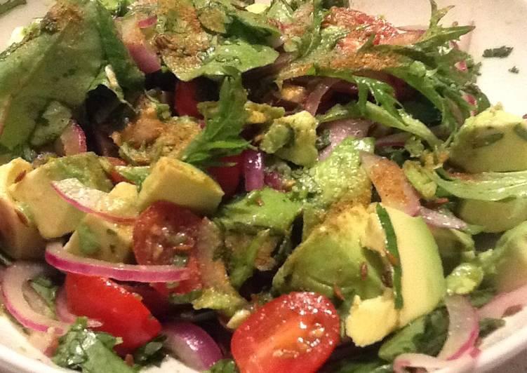 Recipe: Perfect Mexican avocado salad w tomato, lime, toasted cumin