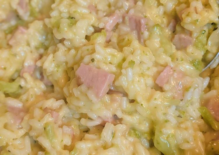 Broccoli, Rice, & Ham Hotdish (Gluten/Dairy Free)