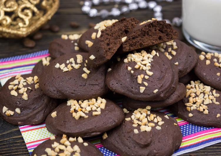 Двойное шоколадное печенье с имбирно-кофейными нотками , пошаговый ... | 532x751