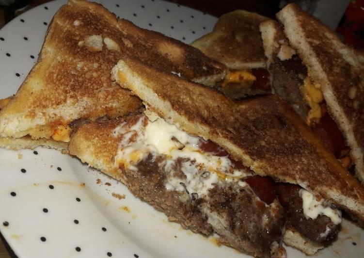 Grandmother's Dinner Ideas Special Sloppy Homestyle burger sambo
