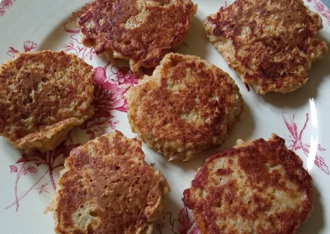Galettes flocons d'avoine et pommes (40 calories par galette)