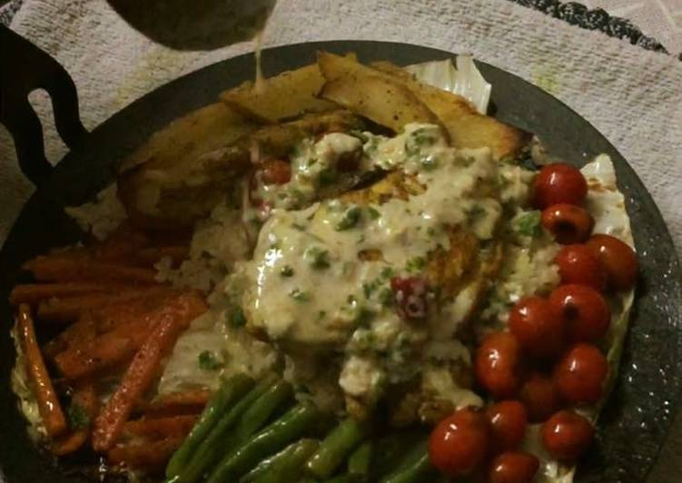 Living Greener for Good Health By Eating Superfoods, Homemade Chicken Sizzler on a Tawa