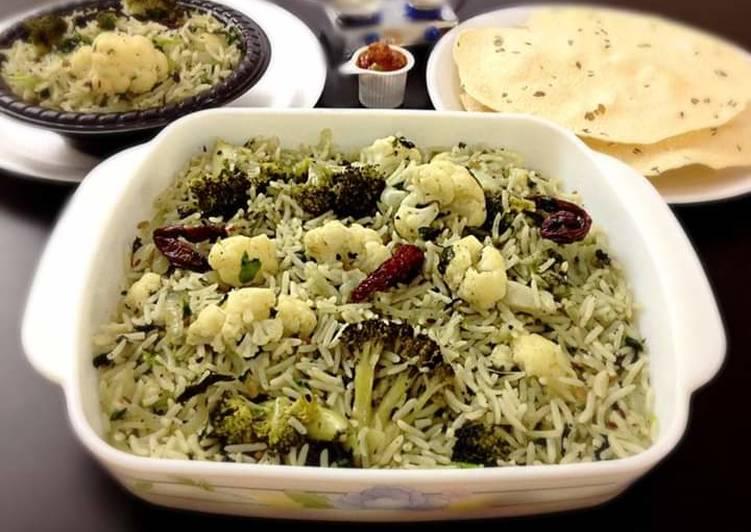 Cauliflower Broccoli Herbed Rice