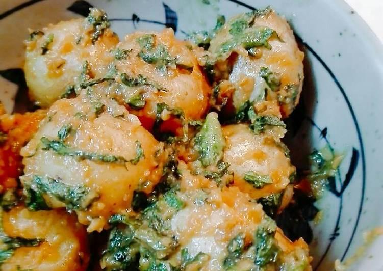 Mini potatoes dengan saos Miso dan Seledri