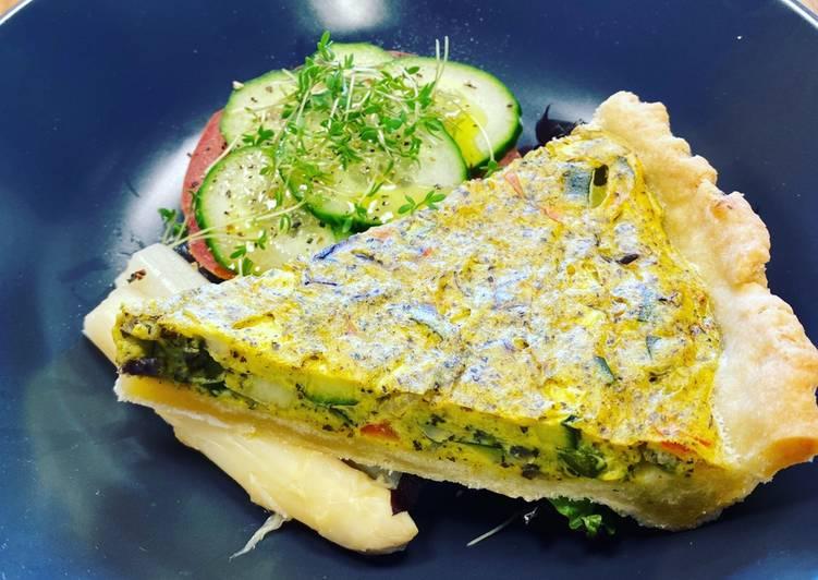 Vegane Zucchini-Quiche