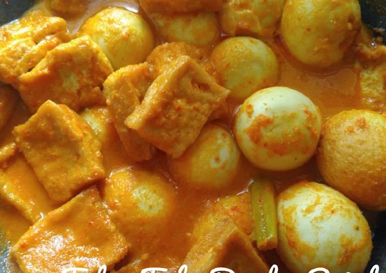 Resep Telur Tahu Bumbu Rujak oleh Dapoerezekicooking ✅ - Cookpad