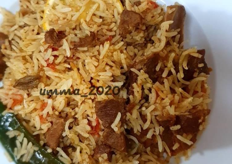 Lamb Biryani (Nasi Biryani Daging Domba) dan tips-tipsnya