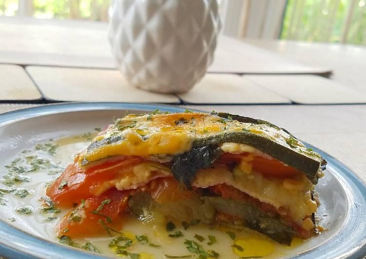 Easiest Way to Prepare Tasty Lasagna di zucchine e pomodoro (senza pasta)