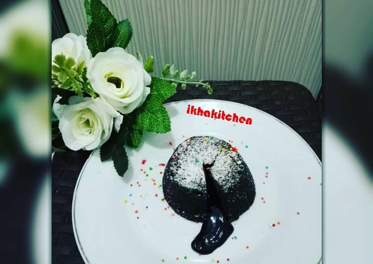 Resep Choco Lava (kue balok meleleh kekinian) #dirumahaja Anti Gagal