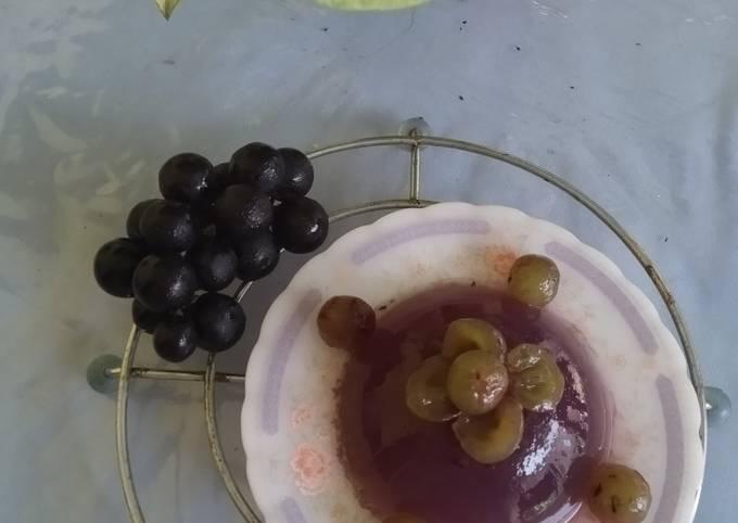 Agar-agar kulit anggur