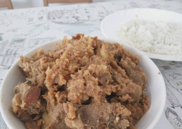 Recipe: Appetizing Rendang beef and Hainam rice