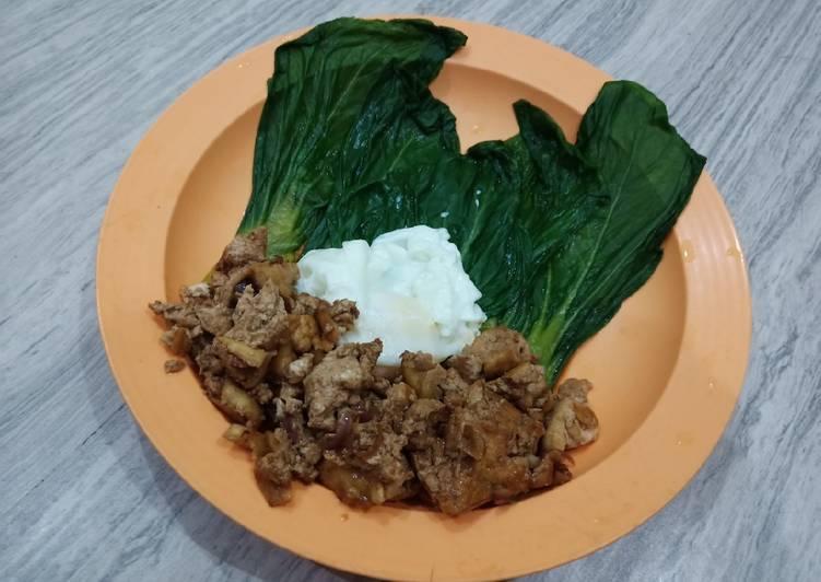 Resep Menu sehat rendah lemak 2 (pakcoy,telur ceplok rebus,tahu kecap) Paling Gampang