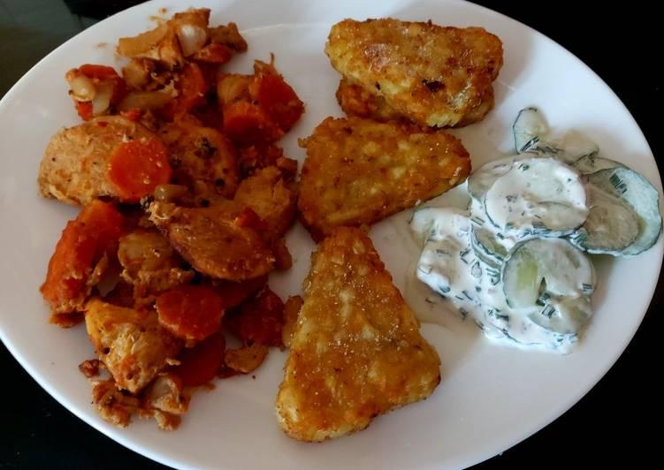 Recipe of Super Quick Homemade My Mustard Chicken, carrots and Tomato Bake 😃
