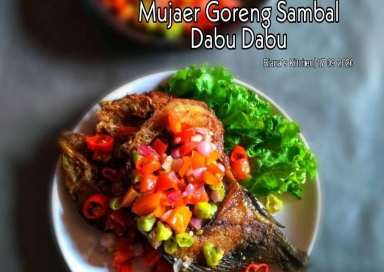 #Ikan mujaer goreng sambal dabu dabu